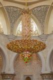 Decoration of Sheikh Zayed Mosque. Abu Dhabi Royalty Free Stock Images