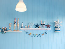 Decoration shelf sailor style Stock Images