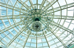 Decoration of shopping center dome Stock Photography