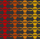 Decoration skull tile Royalty Free Stock Photo