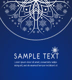 Decoration snowflake card Stock Photography