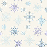Decoration Snowflakes Seamless Background. Royalty Free Stock Photos