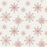 Decoration snowflakes seamless background. Stock Image