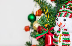 Decoration. Snowman doll with decoration of Chrismas time Royalty Free Stock Images