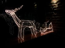 Decoration: sparkling deer in the dark royalty free stock photos