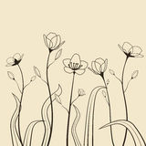 Spring flowers. Decoration with spring flowers. Vector illustration Royalty Free Stock Photo