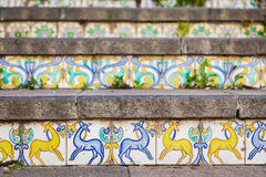 Decoration of staircase at Caltagirone Stock Images