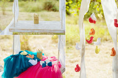Decoration stuff for wedding Stock Photos