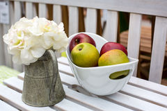 Decoration of summer garden table Royalty Free Stock Photos