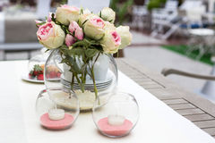 Decoration of summer garden table Royalty Free Stock Photography