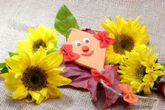 Decoration with Sunflowers Stock Image