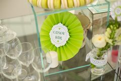 Decoration table. Decoration for bithday party or wedding day Stock Image