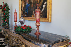 A decoration in the table set in a mansion Royalty Free Stock Images