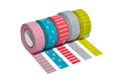 Decoration tape on white isolated background. Decoration tape paper on white isolated background Royalty Free Stock Images