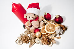 Decoration with a teddy bear Stock Photography