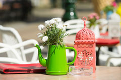 Decoration terrace outdoor Stock Photo