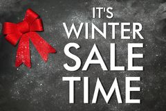 Decoration with text its winter Sale. Time Stock Photo