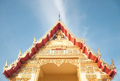 Decoration of Thai temple in Pattani, Thailand.  Stock Photo
