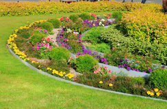 Decoration tiered flowerbeds Stock Images