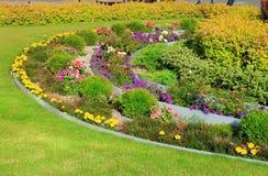 Decoration tiered flowerbeds. Landscape Design, decoration tiered flowerbeds Stock Images