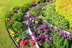 Decoration tiered flowerbeds Royalty Free Stock Images