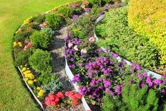 Decoration tiered flowerbeds. Landscape Design, decoration tiered flowerbeds Royalty Free Stock Images