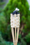 Decoration tiki oil torche. Decoration tiki oil torche for lighting or insect repellent Royalty Free Stock Images
