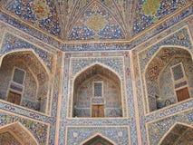 Decoration Tilya-Kori madrasah in Samarkand Royalty Free Stock Photos