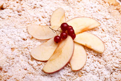 Decoration On Top Of Apple Cake Royalty Free Stock Image