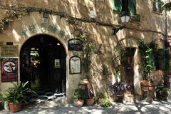 Decoration in Valldemosa. Spanish decoration in front of Aromas de Valldemosa restaurant in Mallorca - Spain royalty free stock images
