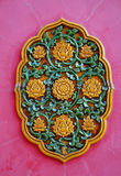 Decoration on the wall of Chinese temple Stock Photo