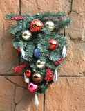 Decoration on wall for Christmas Royalty Free Stock Photography