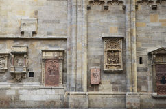 The decoration and wall façade of St. Stephen's Cathedral (Stephansdom) in Vienna, Austria. Stock Photography