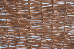 Decoration wall with natural twig weaving pattern Royalty Free Stock Images