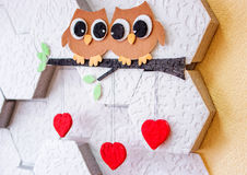 Decoration on the wall Valentine`s Day Stock Photo