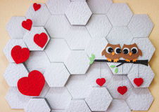 Decoration on the wall Valentine`s Day Royalty Free Stock Photo