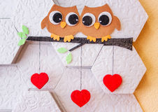 Decoration on the wall Valentine`s Day Royalty Free Stock Photos