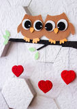 Decoration on the wall Valentine`s Day Royalty Free Stock Images