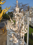 Decoration of  Wat Rong Khun White Temple in Chiang Rai, Thailand Stock Photos