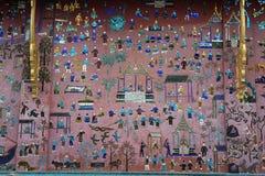 Decoration of Wat Xieng Thong temple at Luang Prabang Royalty Free Stock Images