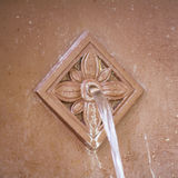 Decoration water feature on wall Royalty Free Stock Photography