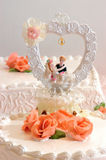 Decoration on wedding cake Royalty Free Stock Image