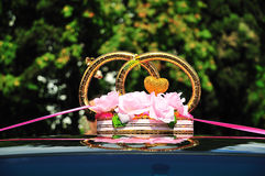 Decoration of wedding car Royalty Free Stock Photography