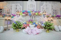 Decoration for wedding ceremony Stock Images