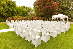 Decoration wedding ceremony outdoor Royalty Free Stock Photography