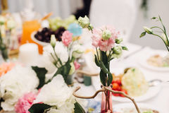 Decoration for a wedding. Detalies elegant event Royalty Free Stock Photo