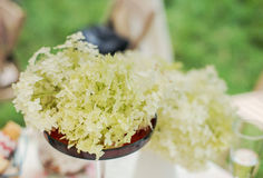 Decoration of the wedding dinner. Stock Photography