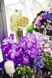 Decoration of wedding flowers Stock Images