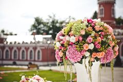 Decoration of wedding flowers Royalty Free Stock Images