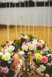 Decoration of wedding flowers Stock Images